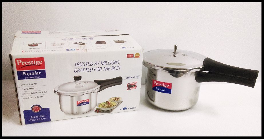 Prestige stainless steel pressure cooker 3 Liters induction + gas compatible