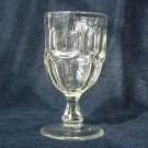Antique Goblet, circa 1850, Flint Glass, EAPG, Beautiful, Clear