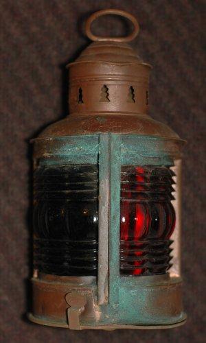 Antique Navigation Lamp, Triplex
