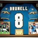 Premium Framed Mark Brunell Autographed Jaguars Official Wilson Jersey JSA COA