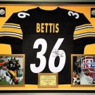Premium Framed Jerome Bettis Autographed Pittsburgh Steelers Jersey - JSA COA