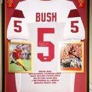 Premium Framed Reggie Bush Autographed USC Trojans Jersey - JSA COA