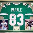 Premium Framed Vince Papale Invincible Autographed Eagles Jersey JSA COA