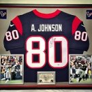 Premium Framed Andre Johnson Signed Nike Onfield Texans Jersey PSA/DNA
