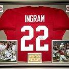 Premium Framed Mark Ingram Autographed Alabama Crimson Tide Jersey - JSA COA