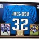 Framed Maurice Jones Drew Autographed Jaguars Jersey Signed JSA Jones-Drew UCLA