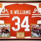 Premium Framed Ricky Williams Autographed Texas Longhorns Jersey JSA COA
