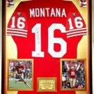 Premium Framed Joe Montana Signed Authentic Wilson Proline 49ers Jersey PSA COA