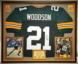 reputable site f943d 60cc4 Premium Framed Charles Woodson Autographed Packers Jersey ...