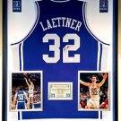 Premium Framed Christian Laettner Autographed Duke Blue Devils Jersey JSA COA