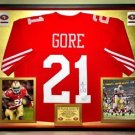 Premium Framed Frank Gore Autographed 49ers Jersey JSA COA Signed