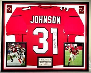 Premium Framed David Johnson Autographed Arizona Cardinals Jersey - JSA COA