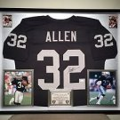 Premium Framed Marcus Allen Autographed Raiders Jersey Signed - JSA COA