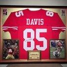 Premium Framed Vernon Davis Autographed 49ers Jersey Signed JSA COA