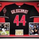 Premium Framed Paul Goldschmidt Autographed Arizona Diamondbacks Jersey PSA COA