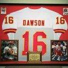 Premium Framed Len Dawson Autographed Chiefs Jersey Signed JSA COA