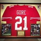 Premium Framed Frank Gore Autographed 49ers Jersey Signed JSA COA