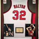 Premium Framed Bill Walton Autographed Portland Trailblazers Jersey - JSA