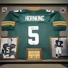 Premium Framed Paul Hornung Autographed Mitchell & Ness Packers Jersey PSA COA