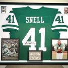 Premium Framed Matt Snell Autographed Jets Jersey Signed - JSA COA