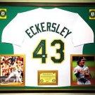 Premium Framed Dennis Eckersley Autographed A's Jersey JSA COA - Athletics