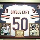 Premium Framed Mike Singletary Autographed Chicago Bears Jersey Signed JSA COA
