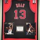 Premium Framed Joakim Noah Autographed Chicago Bulls Jersey Signed JSA COA