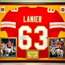 Premium Framed Willie Lanier Autographed Chiefs Jersey JSA Authenticated Signed