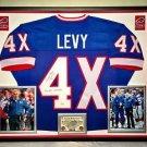 Premium Framed Marv Levy Autographed Buffalo Bills Jersey - JSA COA