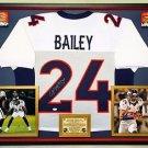 Premium Framed Champ Bailey Autographed Broncos Jersey JSA COA