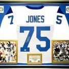 Premium Framed Deacon Jones Autographed Rams Jersey - JSA COA