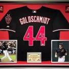 Premium Framed Paul Goldschmidt Autographed Arizona Diamondbacks Jersey - PSA