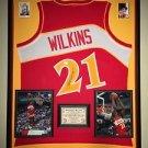 Premium Framed Dominique Wilkins Autographed Atlanta Hawks Jersey PSA/DNA COA