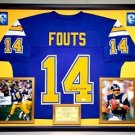Premium Framed Dan Fouts Autographed San Diego Chargers Jersey - JSA COA