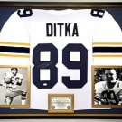 Premium Framed Mike Ditka Signed Pittsburgh Panthers PITT Jersey JSA COA - bears