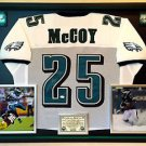 Premium Framed LeSean McCoy Autographed Eagles Jersey - JSA COA
