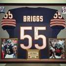 Premium Framed Lance Briggs Autographed Chicago Bears Jersey Signed PSA/DNA COA