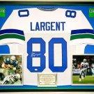 Premium Framed Steve Largent Signed Seahawks Jersey JSA COA
