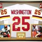 Premium Framed Joe Washington Signed Redskins Jersey JSA COA