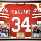 Premium Framed Ricky Williams Autographed Texas Longhorns Jersey Tristar COA