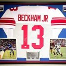 Premium Framed Odell Beckham Jr. Autographed New York Giants Jersey - JSA COA