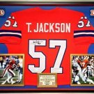 Premium Framed Tom Jackson Signed Broncos jersey JSA COA - orange crush