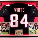 Premium Framed Roddy White Autographed Atlanta Falcons Jersey - JSA COA