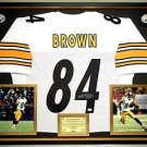 Premium Framed Antonio Brown Signed / Autographed Pittsburgh Steelers Jersey - JSA COA