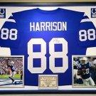 Premium Framed Marvin Harrison Autographed Indianapolis Colts Jersey JSA COA