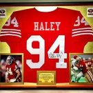 Premium Framed Charles Haley Signed 49ers Jersey PSA/DNA COA