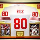 Premium Framed Jerry Rice Autographed 49ers Mitchell & Ness Jersey PSA/DNA COA