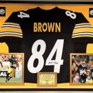 Premium Framed Antonio Brown Signed / Autographed Steelers Jersey JSA COA