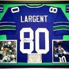 Premium Framed Steve Largent Signed / Autographed Seahawks Jersey JSA COA