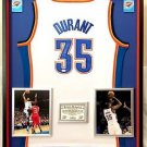 Premium Framed Kevin Durant Signed OKC Thunder Authentic Adidas Jersey JSA Auth.